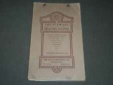 1900'S STEWART COOPER COIL HEATING SYSTEM CATALOGUE - NICE ILLUS. - II 3002