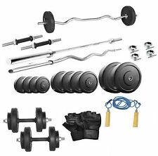 Protoner 20 kg with 3 feet straight rod 3 feet curl rod home gym package