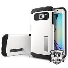 Samsung Galaxy S6 Edge Spigen Case Slim Armor Shimmery White B-Ware SGP11424
