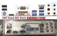 ATX Blende I/O shield ASRock H87 Pro4 Z87 Pro3 io backplate bracket new #G399 XH