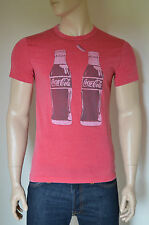 NEW Abercrombie & Fitch Coca-Cola Coke Bottle Vintage Graphic Tee T-Shirt Red XL