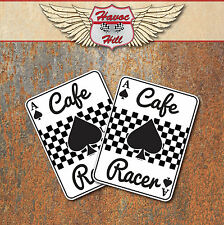 Cafe Racer Ace Of Spades Stickers Classic Motorbike Motorcycle Decals