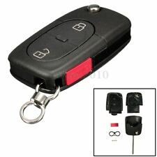 2 Button + Panic Flip Folding Remote Key Fob Case Shell For Audi A4 A4 Quattro