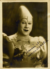 Photo Clown Pipo 1941 -L.Speeckaert- bruxelles dédicace - circus