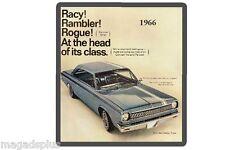 1966 AMC Rambler  Auto Refrigerator / Tool Box Magnet Man Cave Shop