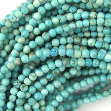 """2mm blue turquoise round beads 15.5"""" strand"""