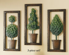 Metal Topiary Wall Art - Set of 3, by Collections Etc