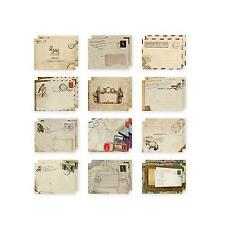 Mini Paper Ancient Envelope Retro Pattern Stationery Christmas Kid Gift 12pcs
