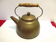 Revere Ware Copper Tea Kettle Antique Wood Tin Lined Patina Home Decor