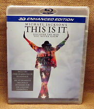 """SEALED PROMO Michael Jackson's THIS IS IT 3D Enhanced Edition Blu-Ray """"Thriller"""""""