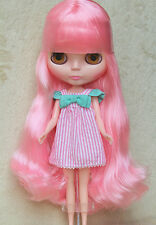 "Takara 12"" Neo Blythe Doll from Factory Nude Doll Long pink hair N-276A"