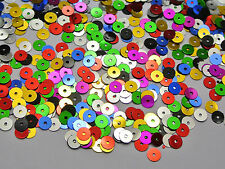 8000 Mixed Color 5mm Flat Round loose sequins Paillettes sewing Wedding craft