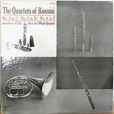 THE QUARTETS OF ROSSINI Vol. 2: Nos. 4, 5, 6-NM LP NEW ART WIND QUINTET
