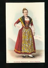 Switzerland Graubunden Traditional dress fashion costume c1900/10s? PPC
