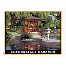 USPS New Lili'uokalani Gardens Priority Mail stamps pane of 4