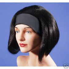 Black Page Boy Wig with Headband Wig Lady Party Woman Lady Dress up  Halloween