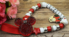 Personalised Stunning minnie red Dummy Clip Chain Any Name for reborn dolls