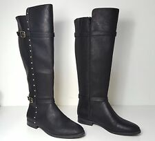 $149 size 8.5 INC Ameliee Wide Calf Black Knee High Riding Womens Boots shoes
