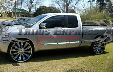 Fit:2004-2015 Nissan Titan King Cab 4Pc Chrome Body Side Molding Trim Overlay 3""