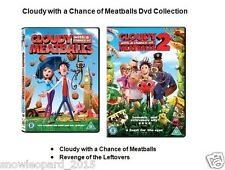CLOUDY WITH A CHANCE OF MEATBALLS Part 1 + 2 DVD Movie Collection New MEAT BALLS