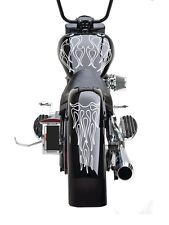 Universal Motorcycle Ghost Flame Set Gas Tank & Fender Decals Harley (GFFS02)