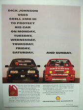 DICK JOHNSON SIERRA SHELL XMO HI OIL FULLPAGE COLOUR MAGAZINE ADVERTISEMENT