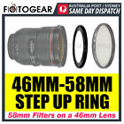 Step Up Ring 46-58mm Filter Lens Adapter 46mm-58mm AUSPOST
