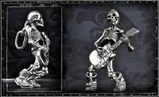 Crazy Pig Designs Skull Pendant Guitar Till Death Sterling Silver
