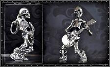Crazy Pig Designs Skull Pendant Guitar Till Death Sterling Silver