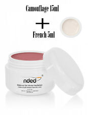 GEL UV 15ml MAKE UP CAMOUFLAGE ROSA ANTICO RICOSTRUZIONE UNGHIE NDED  FRENCH 5ml