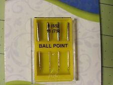 Dritz 11156 Pack of 4 Ball Point Needles Sewing Machine 9/65 & 11/75