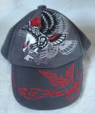 Ed Hardy Kids Gray Baseball Cap Hat size small Size 0-9 months 100% polyester