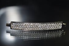 One Excellent Quality~Rhodium Plated CURVED BAR Micropavé CZ Connector R1002