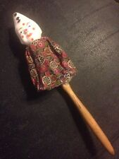 Antique Composition Toy Clown Pierrot Squeaker Whistle on Stick Made In Germany