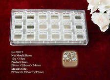 Magnetic Chocolate Mould...Professional...18  12g Square Pieces... No.899-1