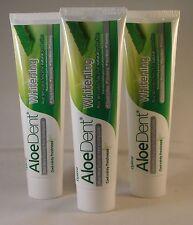 ALOE ammaccatura SBIANCANTE Aloe Vera dentifricio 100ml 3 TUBI