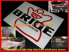 "2x 6"" 15.2cm BRIDE Holding Monster Decal Sticker Bracket Seat GT-R dc5 vinyl JDM"