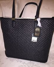 NWT Lauren Ralph Lauren Clifton Reese TOTE Bag Black MSRP$198