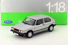 Volkswagen VW Golf I GTI argent 1:18 Welly