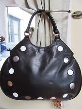 JANE SHILTON Black Buttersoft Leather Top Handle Grab Evening Occasion Handbag