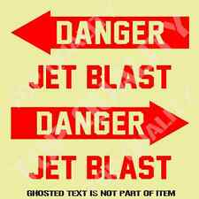 JET BLAST DECAL STICKER JET CAR TRUCK MILITARY ARMED FORCES DECAL STICKERS