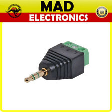 3.5mm Stereo Jack Plug With Screw Terminals