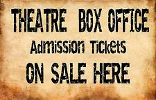Theatre Royal  Reproduction Aged Metal Sign Box Office Sign