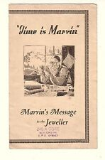 MARVIN SWISS WRISTWATCHES Vintage  ADVERTISING PAMPHLET Australian