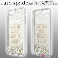 Kate Spade Clear Liquid Glitter Case Gold My Favorite Color fo Apple iPhone 7 7S