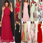 UK Womens Formal Long Chiffon Prom Evening Party Bridesmaid Wedding Maxi Dresses