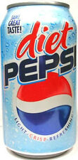 """EMPTY UNOPEN OLD STYLE 12oz 355ml Can """"Standard"""" American Diet Pepsi USA 2005"""