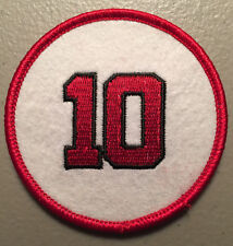 SALE: SPARKY ANDERSON CINCINNATI REDS RETIRED JERSEY NUMBER 10 PATCH