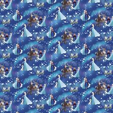 """Disney Frozen Snowflake Sister Magic 100% cotton 44"""" fabric by the yard"""