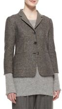 Auth NWT THE ROW Double-Faced Tweed Jacket, Charcoal Melange  $4090 Sz.2 CURRENT